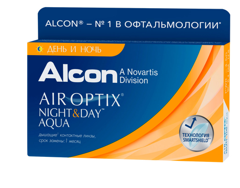 Air Optix Night&Day Aqua, 3шт