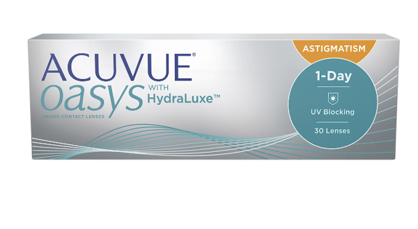1 DAY Acuvue Oasys HYDRALUXE FOR ASTIGMATISM, 30pk